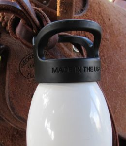 Liberty bottles can be easily and reliably tied to saddle strings.