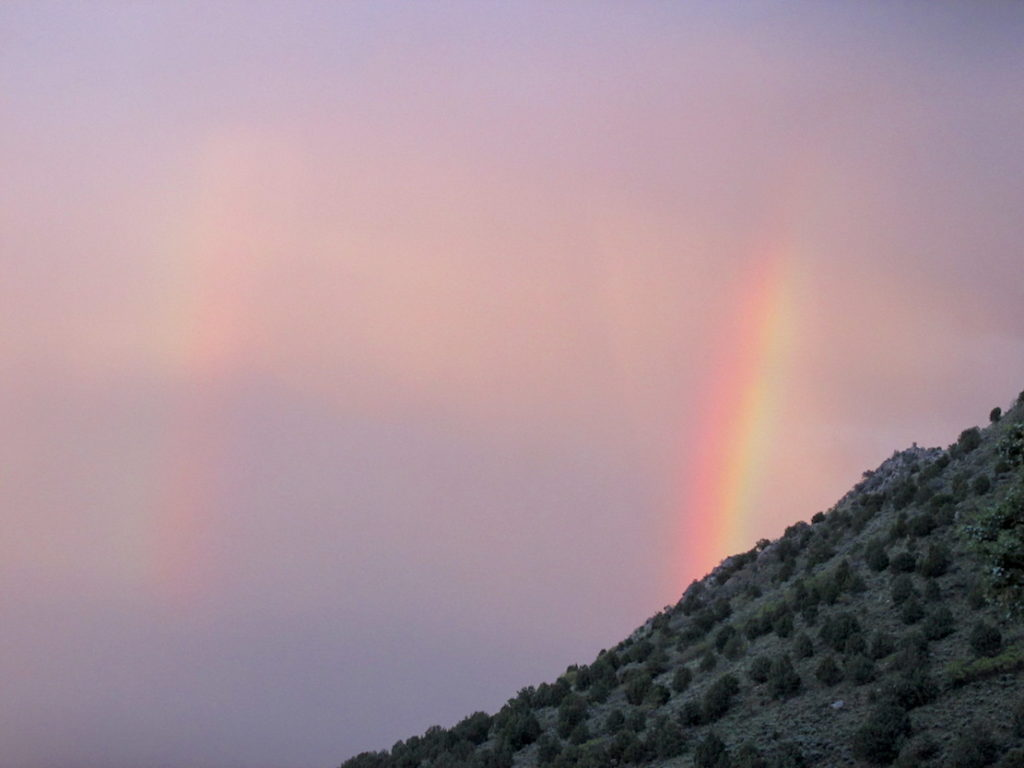After yet another thunderstorm, a double rainbow in Salt Lake valley