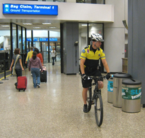 Workers and travelers at the SLC airport are a fit bunch