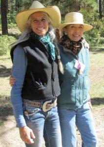 Anne Rapp (L) with Linda Mannix