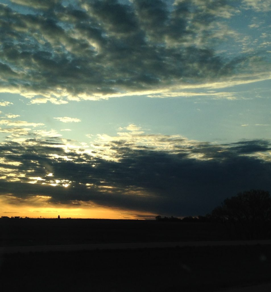 Interstate 70 sunrise, in Kansas