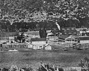 McPhee, the mill town, before fires, the Depression, and being submerged.